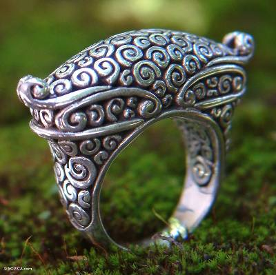 silver fashion jewellery - Hand Crafted Sterling Silver Ring