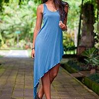 Jersey dress, 'Bold Blue' - Jersey dress