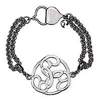 Sterling silver chain bracelet, 'Peace Chain' - Modern Handcrafted Mexican Silver Bracelet