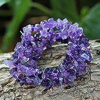 Amethyst beaded bracelets,