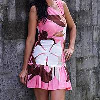 Dress, 'Tropical Pink Flirt' - Dress