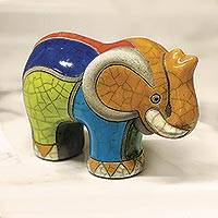 Featured review for Ceramic raku figurine, Transvaal Elephant