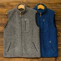 Men's wool blend vest, 'Treviso Trek' - Men's Wool and Cotton Blend Zip Up Vest