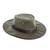 Men's waxed cotton hat, 'Blyde River' - Men's Waxed Cotton Tin Cloth Hat in Olive (image 2b) thumbail