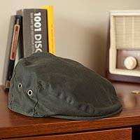 Irish Vintage Waxed Cotton Cap, 'Wayfarer' - Irish Vintage Green Waxed Cotton Cap
