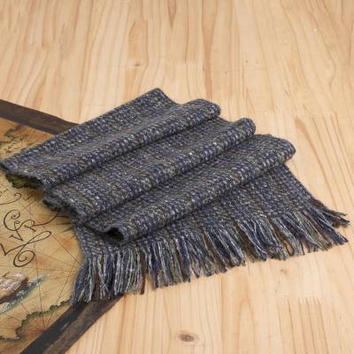 Wool and cashmere blend scarf, 'Hills of Donegal' - Unisex Wool Blend Donegal Tweed Scarf