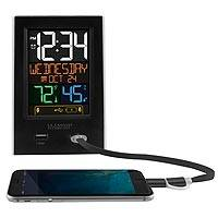 Desktop charging station, 'Time to Spare' - Dual Charging Station and Alarm Clock