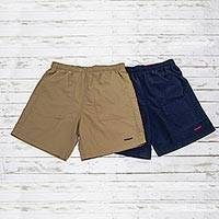 Men's nylon travel shorts, 'Land or Sea' - Men's Quick Dry Nylon Land or Sea Travel Shorts