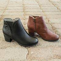 Leather Comfort Ankle Boots - Comfort Ankle Boots