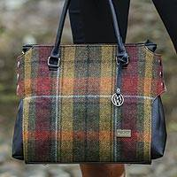 Tartan wool handbag, 'Country House'  - Irish Tartan Bag