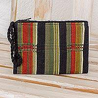 Cotton camera bag, 'Cool Forest' - Guatemalan Small Cotton Camera Bag