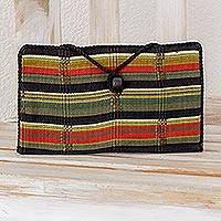 Cotton passport case Cool Forest Guatemala