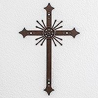 Wrought iron cross,