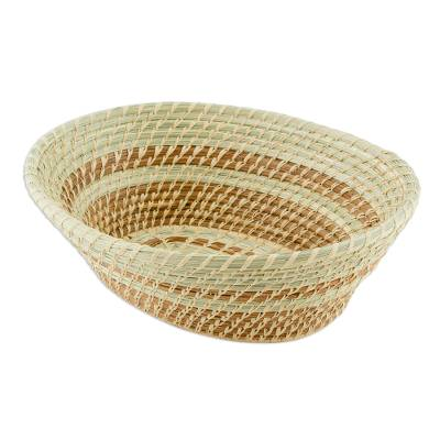 Natural Fiber Woven Art Basket
