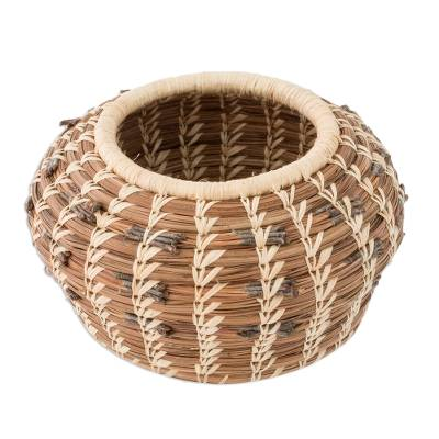 Artisan Crafted Central American Ecofriendly Fiber Basket