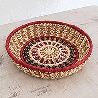 Natural fibers basket, 'Mother Nature' - Artisan Crafted Natural Fiber Basket from Central America