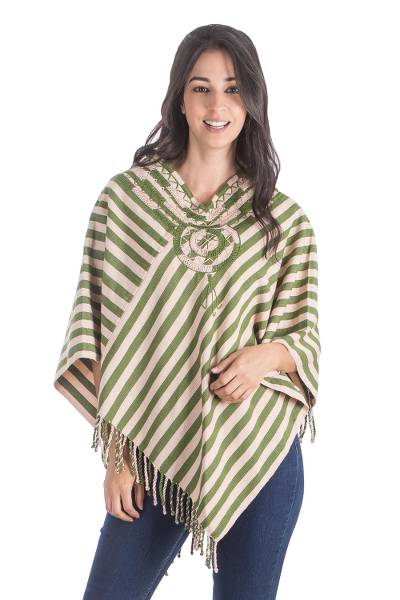 Handcrafted Central American Cotton Poncho