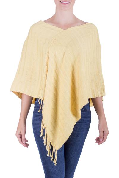 Central American Hand Woven Cotton Poncho