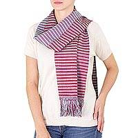 Cotton scarf, 'Kite Festival' - Cotton scarf