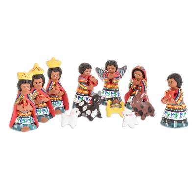Christianity Ceramic Nativity Scene Sculpture (Set of 12)