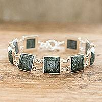 Jade link bracelet, 'Love's Riches'