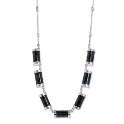 Artisan Crafted Good Luck Sterling Silver Jade Necklace