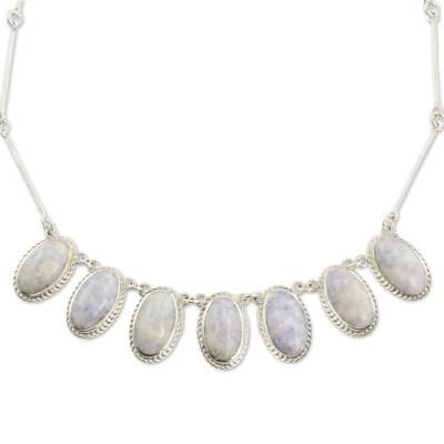 Hand Crafted Sterling Silver Lavender Jade Necklace