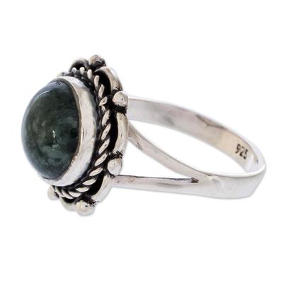Artisan Jewelry Sterling Silver Jade Ring