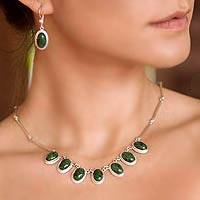 Jade pendant necklace, 'Eternal Love'
