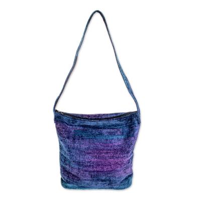 Bamboo Chenille Bag Handmade in Guatemala