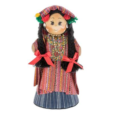 Pinewood and cotton display doll