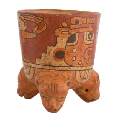 Archaeological Ceramic Bowl Centerpiece from Central America