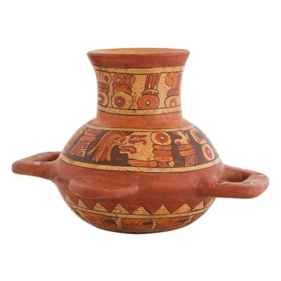 Handmade Ceramic Decorative Vase from Central America