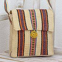 Maguey shoulder bag, 'Market Day' - Guatemalan Maguey Fiber Handbag