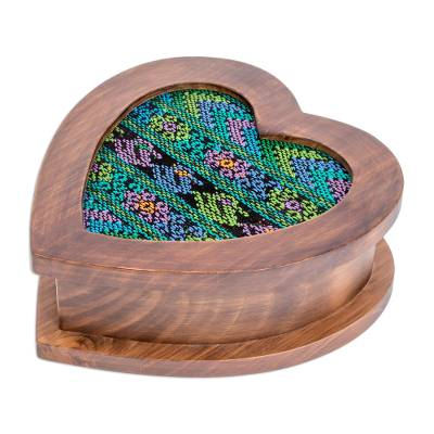 Artisan Crafted Heart Shaped Wood Jewelry Box