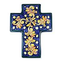 Ceramic cross, 'Inspiration' - Ceramic cross