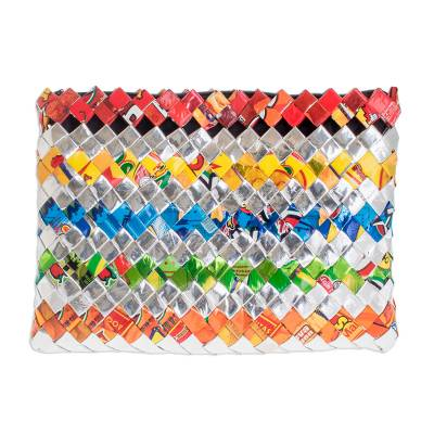 Hand Woven Recycled Wrapper Clutch