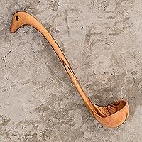 Wood ladle, 'Peten Duck' - Handmade Wood Ladle Spoon