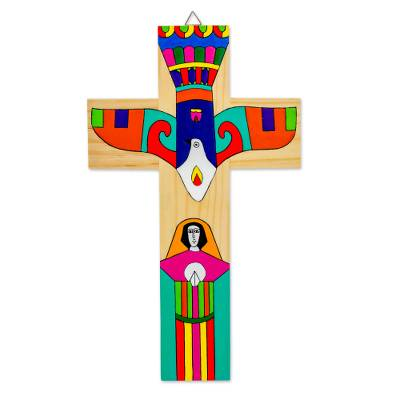 Handcrafted Central American Religious Wood Cross