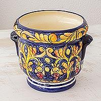Ceramic flower pot,