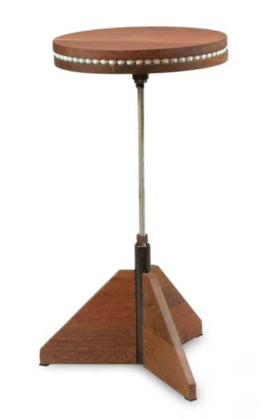 Wood rotating accent table new cycles novica for Revolving end table