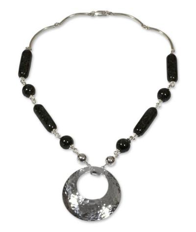 Unique Sterling Silver Pendant Jade Necklace