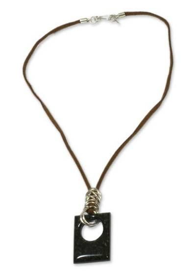 Guatemalan Silver and Jade Necklace