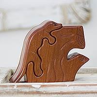 Mahogany puzzle box,