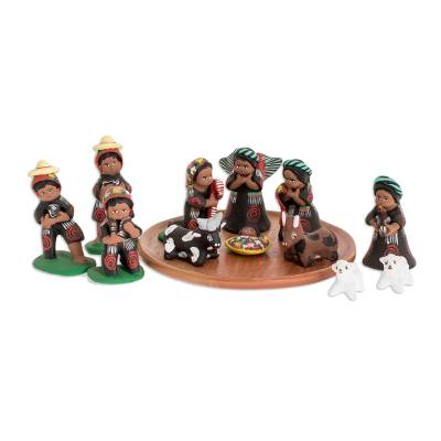 Ceramic nativity scene (Set of 13)