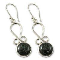 Jade dangle earrings, 'Polochic River' - Jade dangle earrings