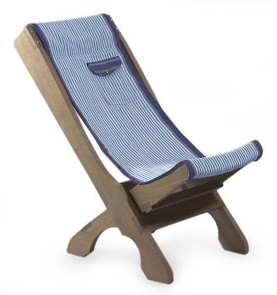 Cedar and cotton chair