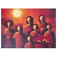 'Native Women' - Guatemala Fine Art Painting