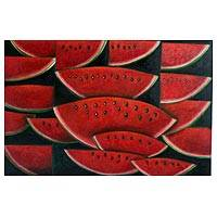 'Watermelons' - Still Life Expressionist Painting