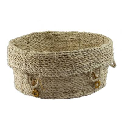 Hand Made Natural Fiber Basket